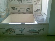 mosaico vasca bagno padronale