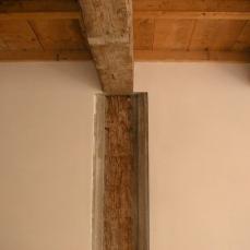 dettaglio della vecchia struttura in legno