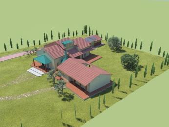 casa in campagna veduta d'insieme